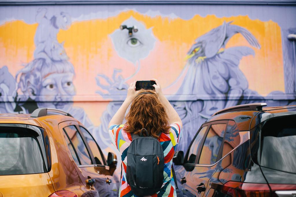 Silent Disco Citywalk Glen Innes - The Bradley Lane Mural Project