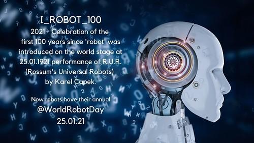 25 enero 2021: Hoy se cumplen 100 años de la palabra ROBOT