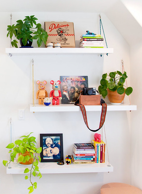 IKEA Hack Paracord Hanging Shelves