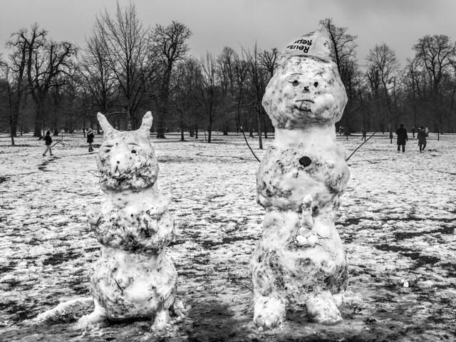 Dirty London snowcreatures