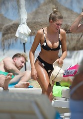 Zara McDermott on the beach in Marbella