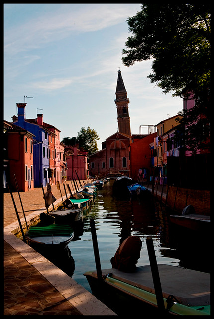 The leaning campanile of Burano #2