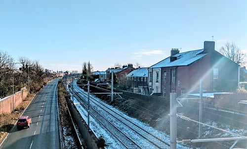 Snowy rail tracks in Preston | by Tony Worrall