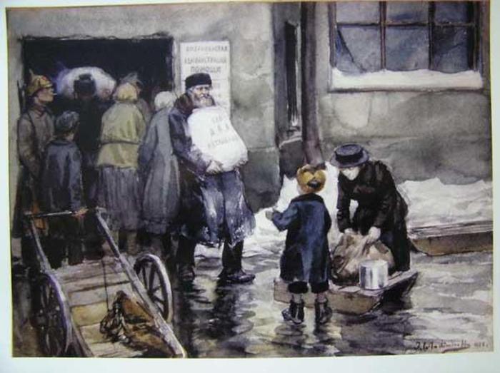 Иван Владимиров. 1922 г. Продовольственная помощь от АРА