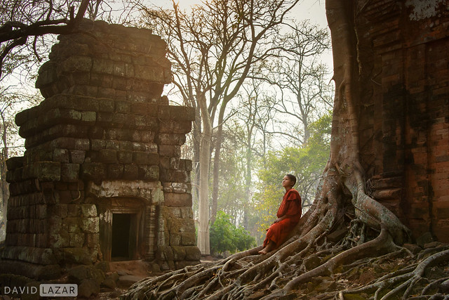 Monk at Ancient Temples