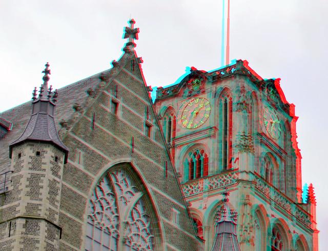 Laurenskerk Rotterdam 3D anaglyph