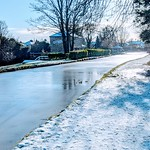 Frozen canal at Preston