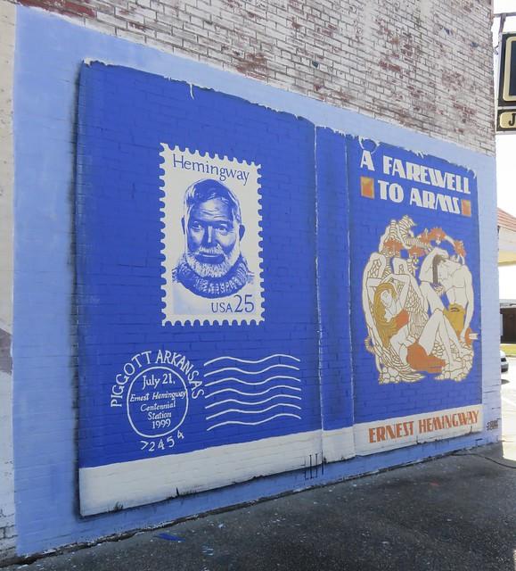 Royall Building Ernest Hemingway Mural (Piggott, Arkansas)