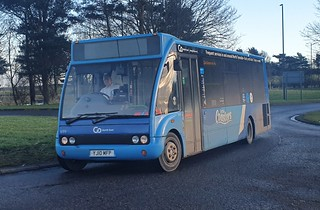 Go North East Optare Solo YJ10 MFP Little Coaster seen here on the 42A to Kingston Park