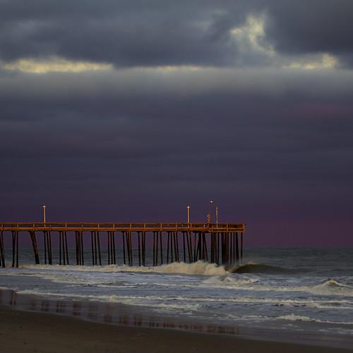 sunset purplesunset maryland md oceancity ocmd ocfishingpier fishingpier oc pier
