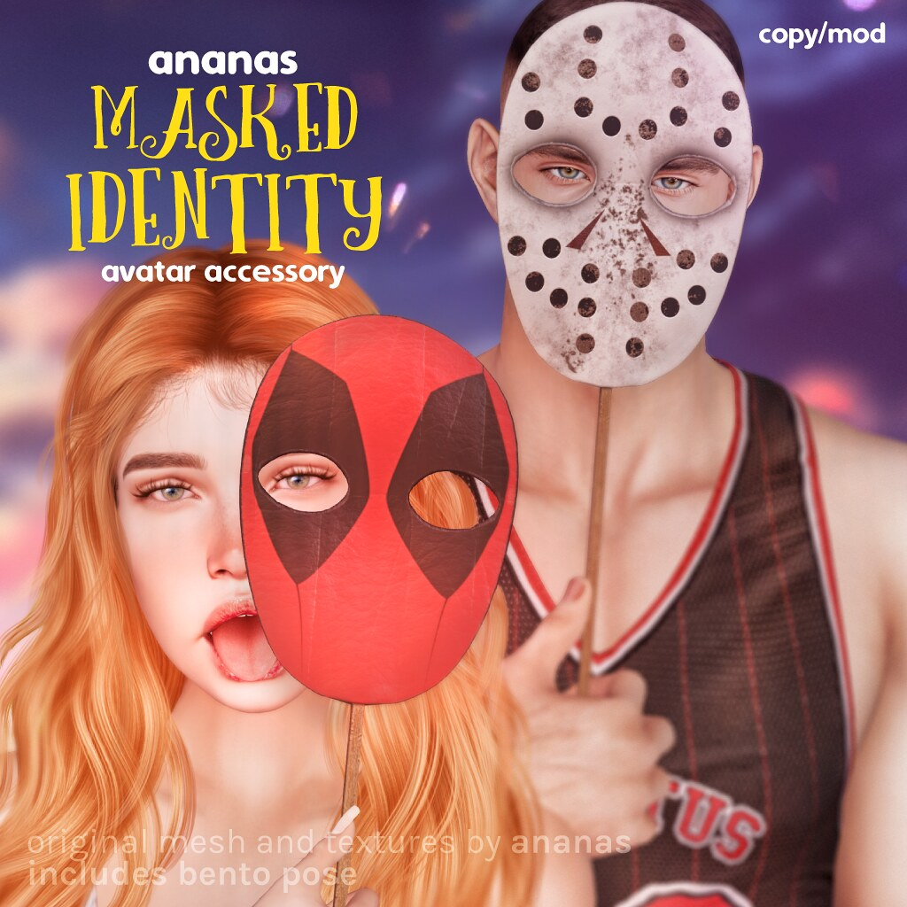 Be a superhero (or a villain) with Ananas' Masked Identity! 🎭