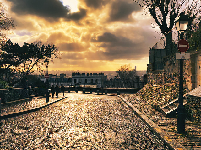Sunset over Montmartre
