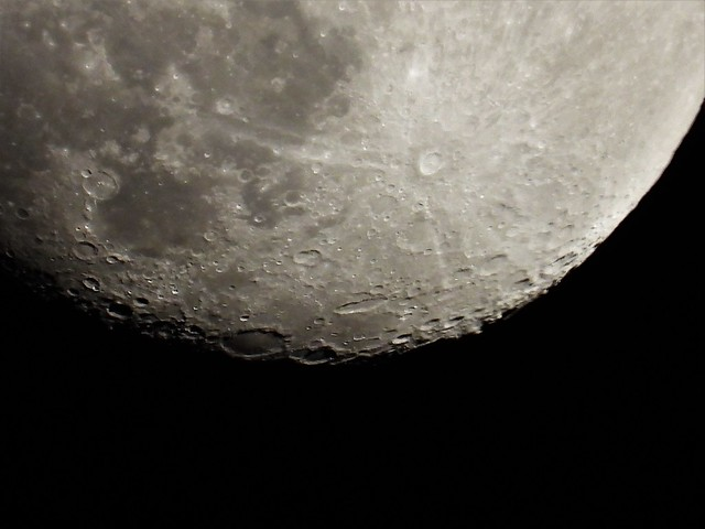 Craters on the Funky Gibbous Moon
