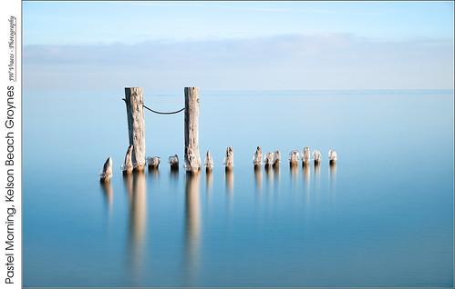 grimsby lakeontario kelsonbeach winona hamilton fiftypointconservationarea water shore winter groynes ice longexposure pastels opensource rawtherapee gimp nikon d800 afsnikkor24120mm140