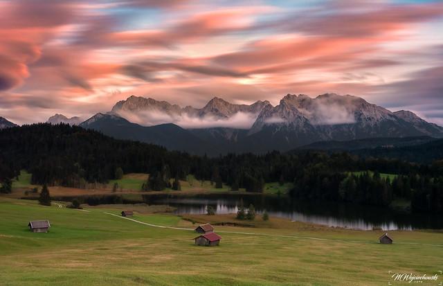 sunset at Geroldsee