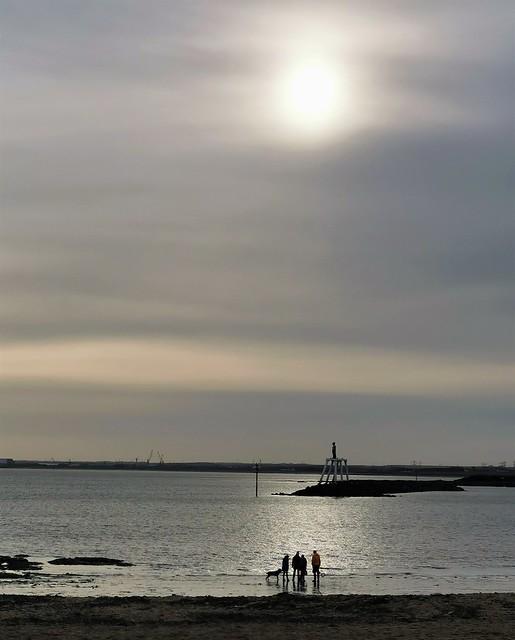 Newbiggin-By-The-Sea - Winter Sun On Seaside Couples