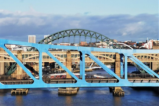 River Tyne Bridges From King Edward Bridge