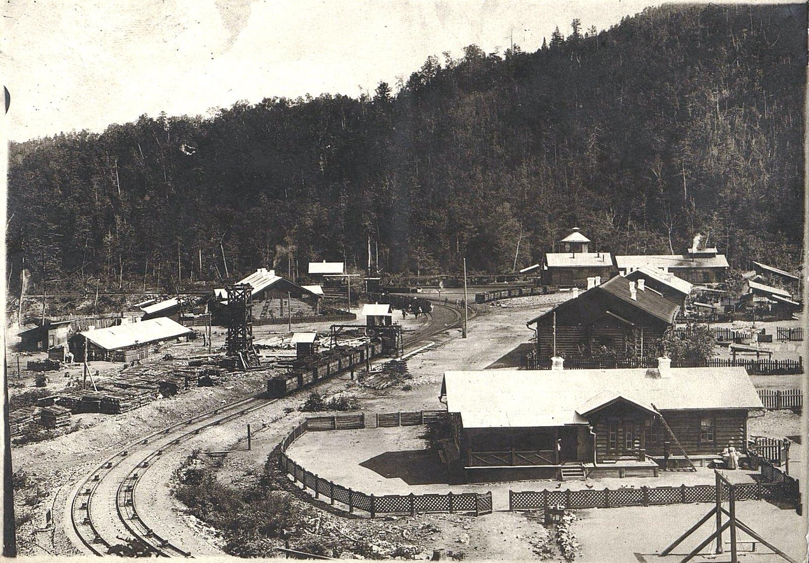 Станция Фанза Сучанской узкоколейной железной дороги - начало участка с применением канатной тяги