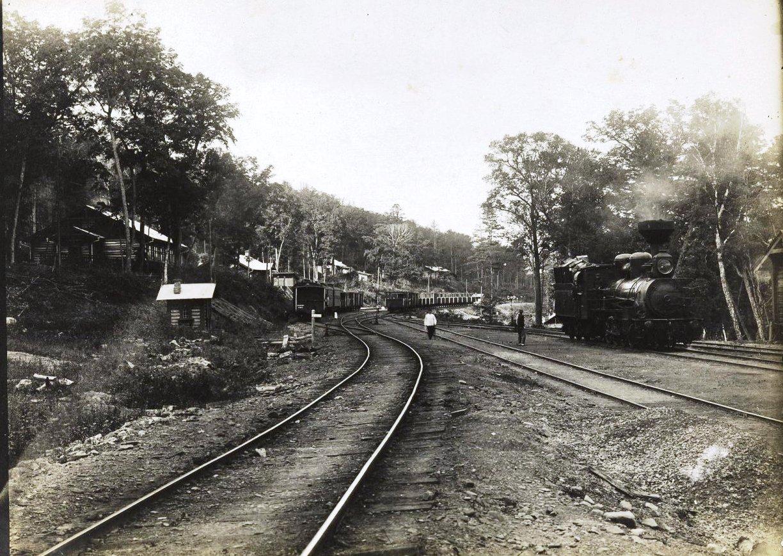 Станция Кангауз Сучанской узкоколейной железной дороги