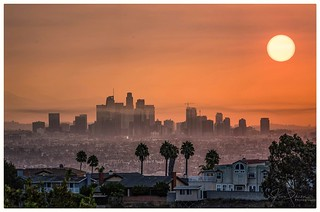 Sunrise in Los Angeles After Last Years Wildfires