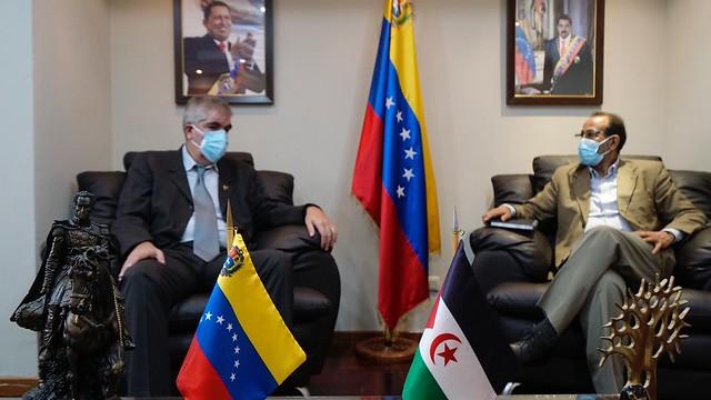 Viceministro Pimentel se reúne con el Embajador de la República Arabe Saharaui Democrática para alianzas lazos de seguridad