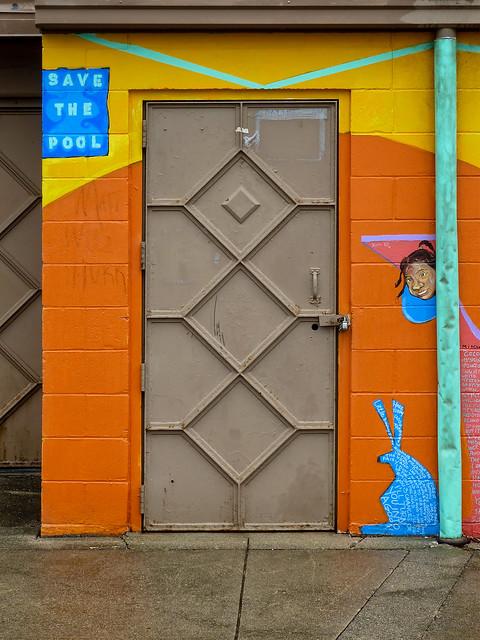 Steel Door - Graffiti -