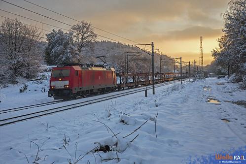 186 339 . DB Cargo . E 49569 . Gemmenich . 25.01.21.