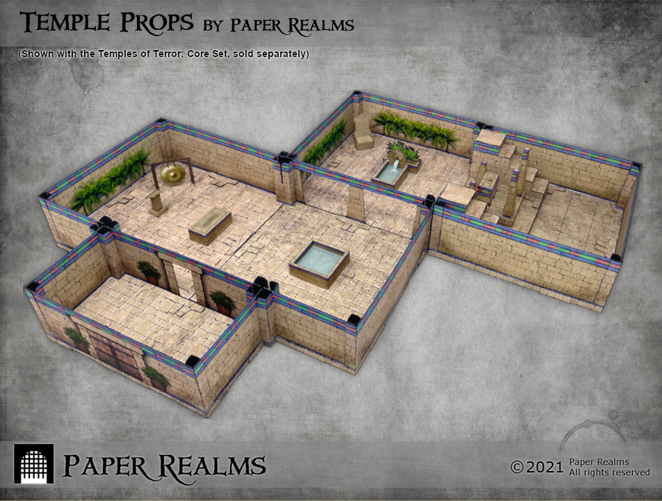 Temples of Terror set with Temple Props