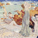 Bathers, Pouldu beach (Baigneuses, plage du Pouldu) (1899) painting in high resolution by Maurice Denis. Original from The Public Institution Paris Musées. Digitally enhanced by rawpixel.