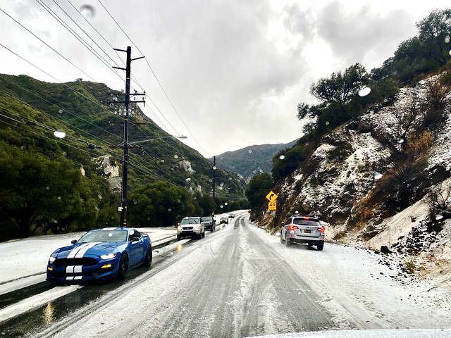 it snowed in Malibu