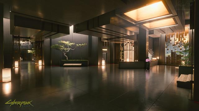 Konpeki Plaza Hotel Room Floor Lobby - Cyberpunk 2077