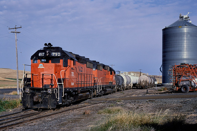 BLMR 792 + 799 switching at Mockonema WA whilst working from Colfax to Hooper Junction on 24 September 1999