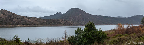 weather clouds sky rain panorama pano landscape gray lake chaparral lakehodges mist drizzle