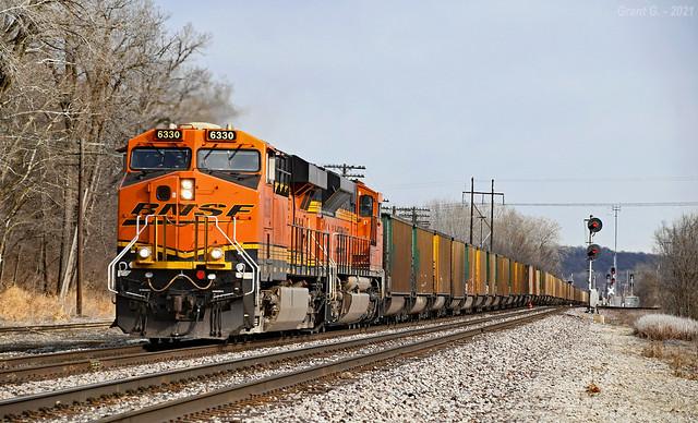 Westbound Empty Coal Train in Birmingham, MO