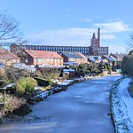 Frozen canal scene at Preston