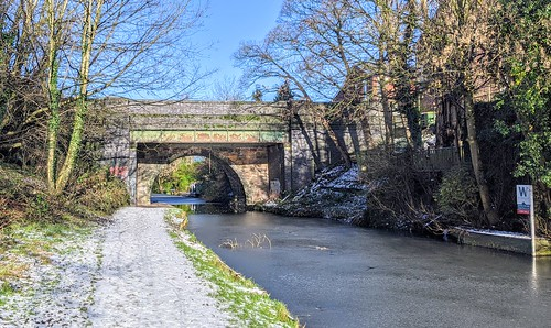 Down the icy canal at Preston | by Tony Worrall