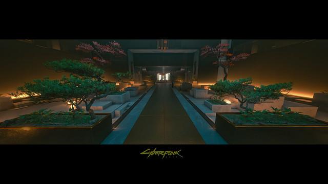 Konpeki Plaza Zen Garden - Cyberpunk 2077