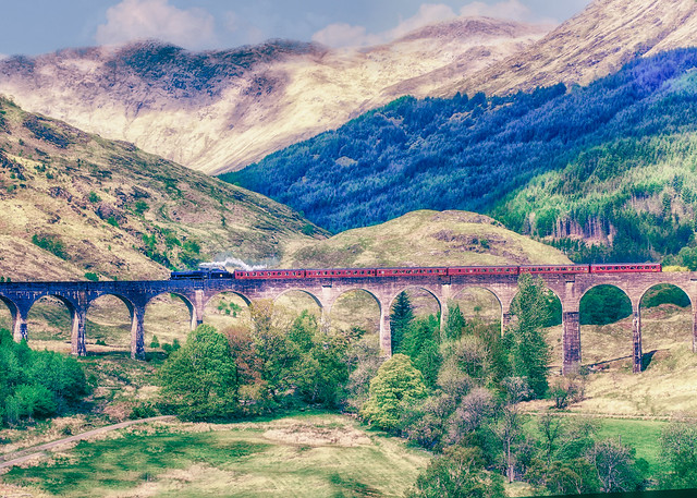 Steaming through the Highlands.