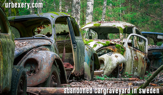 Exploring abandoned car graveyard Båstnäs - check my YouTube Channel for the Video