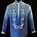 BUY MONOCHROMATIC NAVY BLUE BARONG TAGALOG #3130