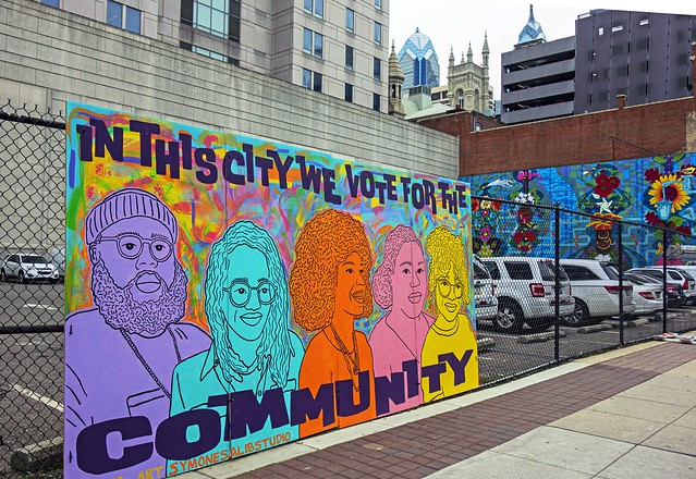 We Did That - Temporary Mural at 13th & Arch Streets, Philadelphia