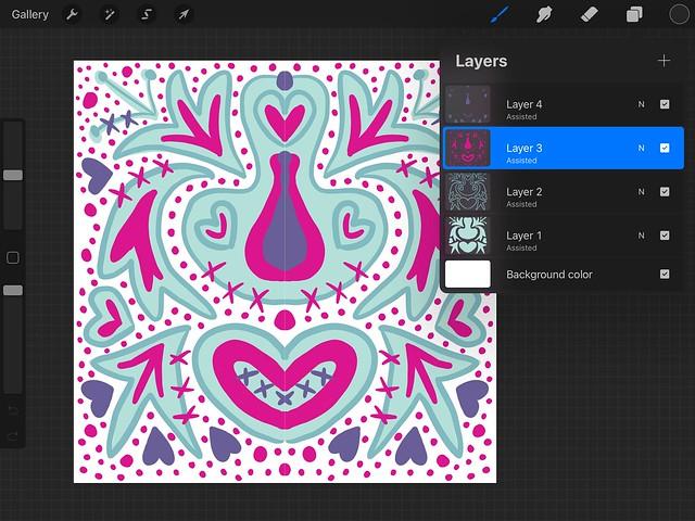 using Procreate on the iPad for digital scrapbooking