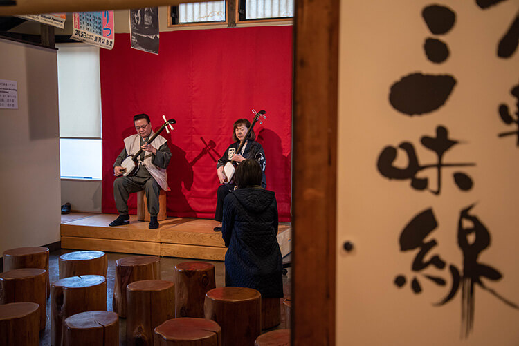 Traditional arts of Tsugaru culture.