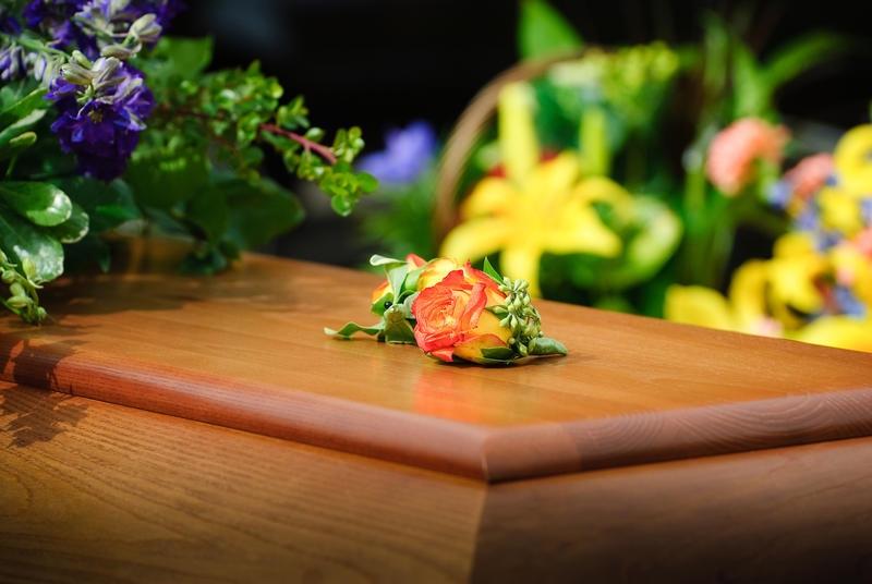 Rose on a casket