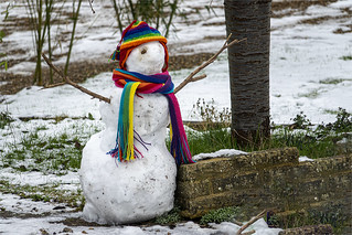 January Snow Art