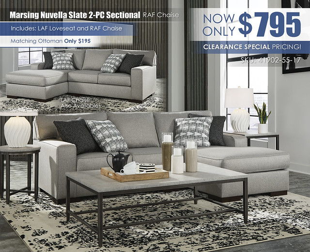 Marsing Nuvella Slate 2PC Sectional_41902-55-17-T250
