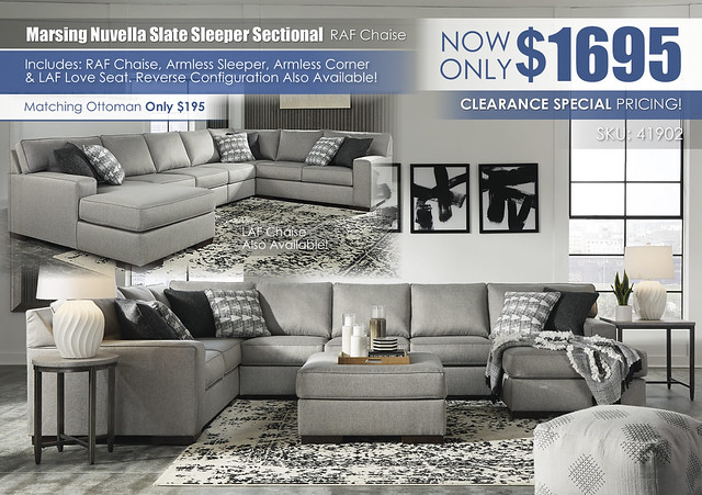 Marsing Nuvella Slate Sleeper Sectional_RAF Chaise_41902-08-MOOD-H