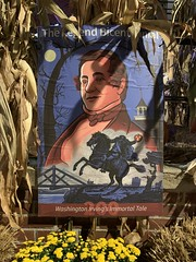 The Legend of Sleepy Hollow The Headless Horseman by author Washington Irving Bicentennial poster Hudson Valley region New York state USA October 2020