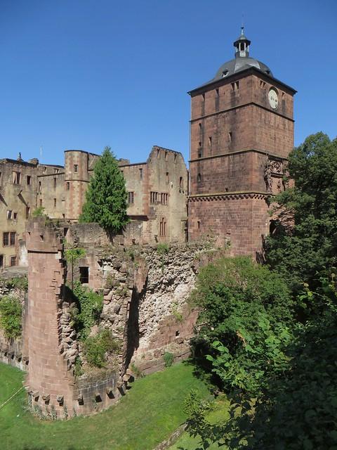 La Torturm (1531-1541), château des électeurs palatins, Heidelberg, Bade-Wurtemberg, République fédérale d'Allemagne.