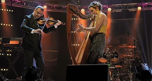 Chris Stout and Catriona McKay. Photo: Gaelle Beri. From Glasgow, Virtually: Celtic Connections Celebrates Hope and Music